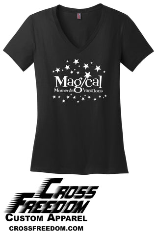 Magical Moments Vacations - Ladies V-Neck T-shirt