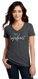 She Is Significant - Ladies V-Neck Tee— Heather Gray