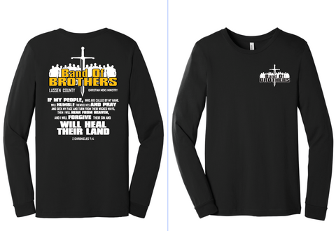 Band Of Brothers - LONG SLEEVE MENS T-SHIRT - BLACK
