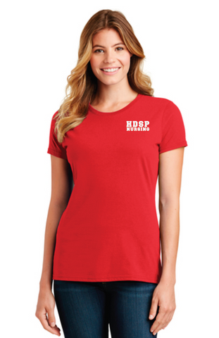 HDSP NURSING - LADIES Short Sleeve Tee - Red