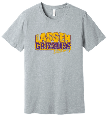 Lassen Grizzlies Since 1903 - Gray Tee