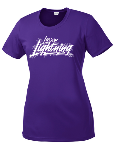 LASSEN LIGHTNING - Ladies Performance Tee- Purple