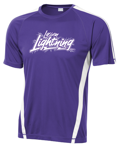 LASSEN LIGHTNING - Mens Performance Tee - Purple/White