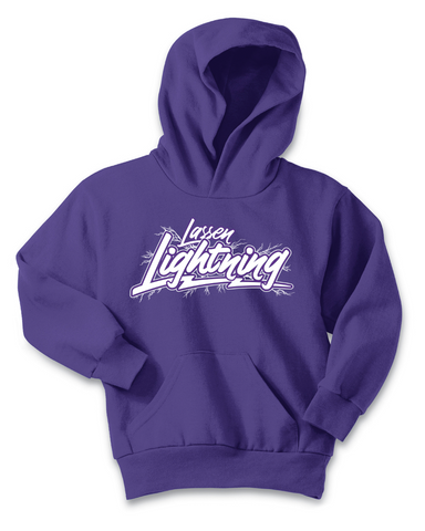 LASSEN LIGHTNING - Adult Hoodie - Purple