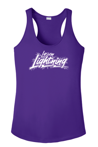 LASSEN LIGHTNING - Ladies Performance Tank- Purple