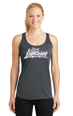 LASSEN LIGHTNING - Ladies Performance Tank- Gray