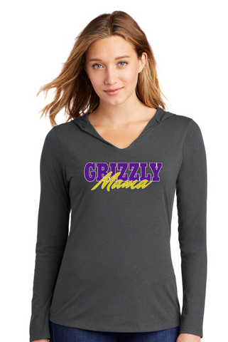GRIZZLY MAMA - LADIES Hooded  Tee