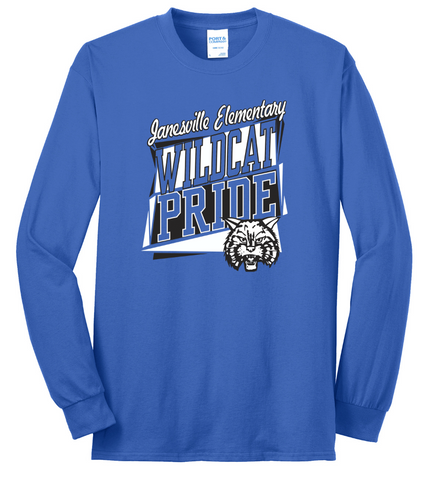 JANESVILLE SCHOOL - Long Sleeve Tee - BLUE