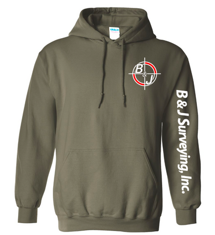 B&J Surveying, Inc. - Gildan Heavy Blend Hoodie - MILITARY GREEN
