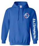 B&J Surveying, Inc. - Gildan Heavy Blend Hoodie - ROYAL