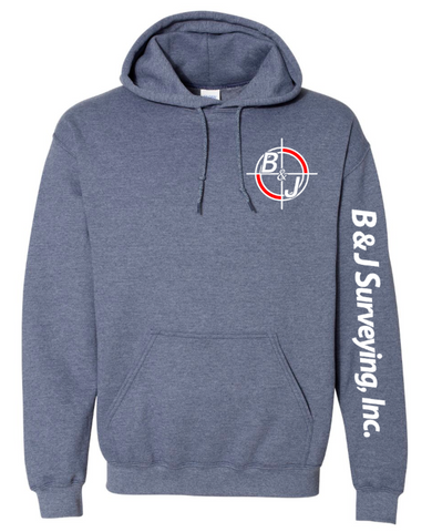 B&J Surveying, Inc. - Gildan Heavy Blend Hoodie - HEATHER SPORT DARK NAVY