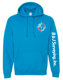 B&J Surveying, Inc. - Gildan Heavy Blend Hoodie - SAPPHIRE