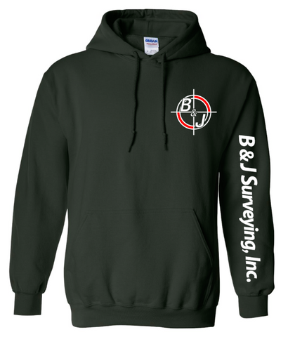 B&J Surveying, Inc. - Gildan Heavy Blend Hoodie - FOREST