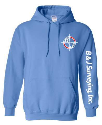 B&J Surveying, Inc. - Gildan Heavy Blend Hoodie - CAROLINA BLUE