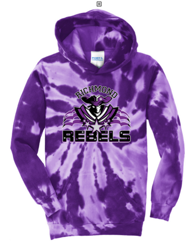 RICHMOND SCHOOL -*YOUTH* Tie Dye Hoodie