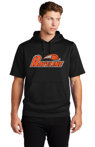 BASELINE BASKETBALL - HOODED SHORT SLEEVE PULLOVER
