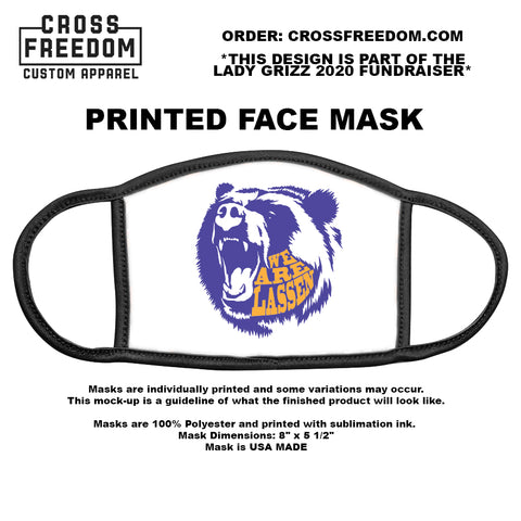 LADY GRIZZ FUNDRAISER 2020 - Face Mask - WE ARE LASSEN