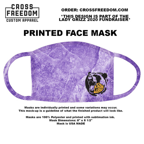 LADY GRIZZ FUNDRAISER 2020 - Face Mask - WE ARE LASSEN PURPLE