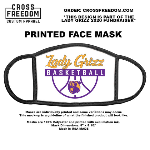 LADY GRIZZ FUNDRAISER 2020 - Face Mask - LADY GRIZZ