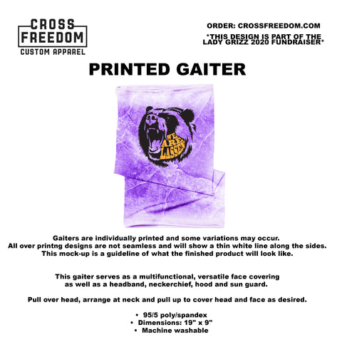 LADY GRIZZ FUNDRAISER 2020 - GAITER -  WE ARE LASSEN PURPLE