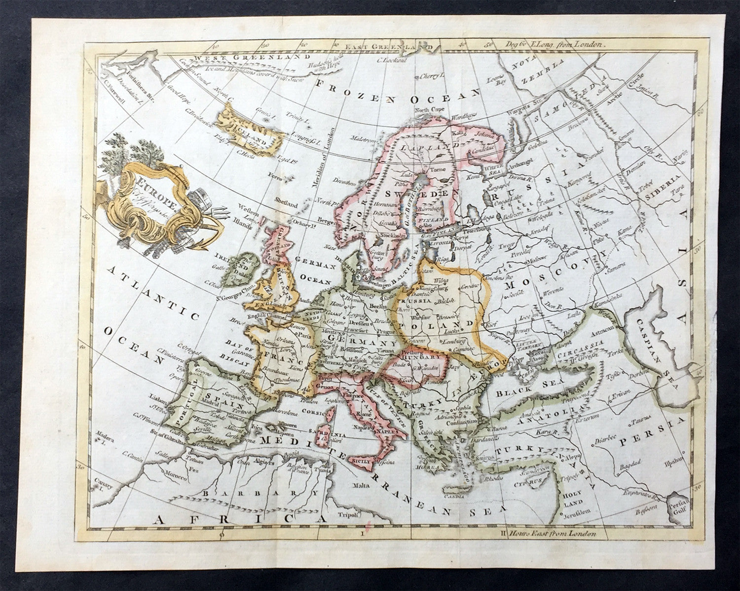 1754 Thomas Jefferys Old Antique Map Of Europe Large Poland