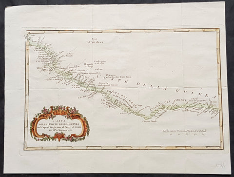 1781 J B D Anville Antique Map Gulf Of Guinea, West Africa - Liberia to Nigeria