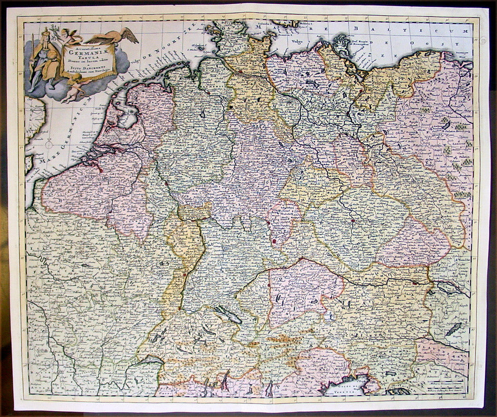 Central Germany Map.1699 Danckerts Antique Map Of Germany Central Europe Poland To