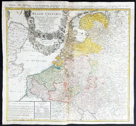 1748 Homann, Mayer Large Old, Antique Map of The Netherlands, Belgium, Holland
