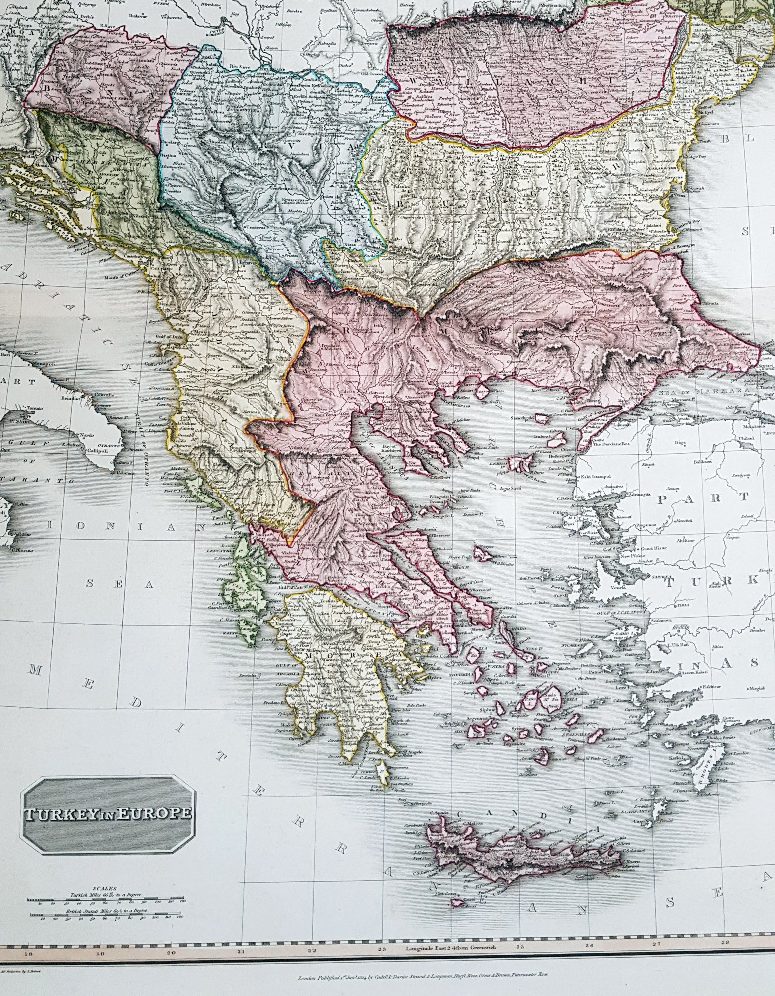 Image of: 1814 John Pinkerton Large Antique Map Of Turkey In Europe Greece To Classical Images