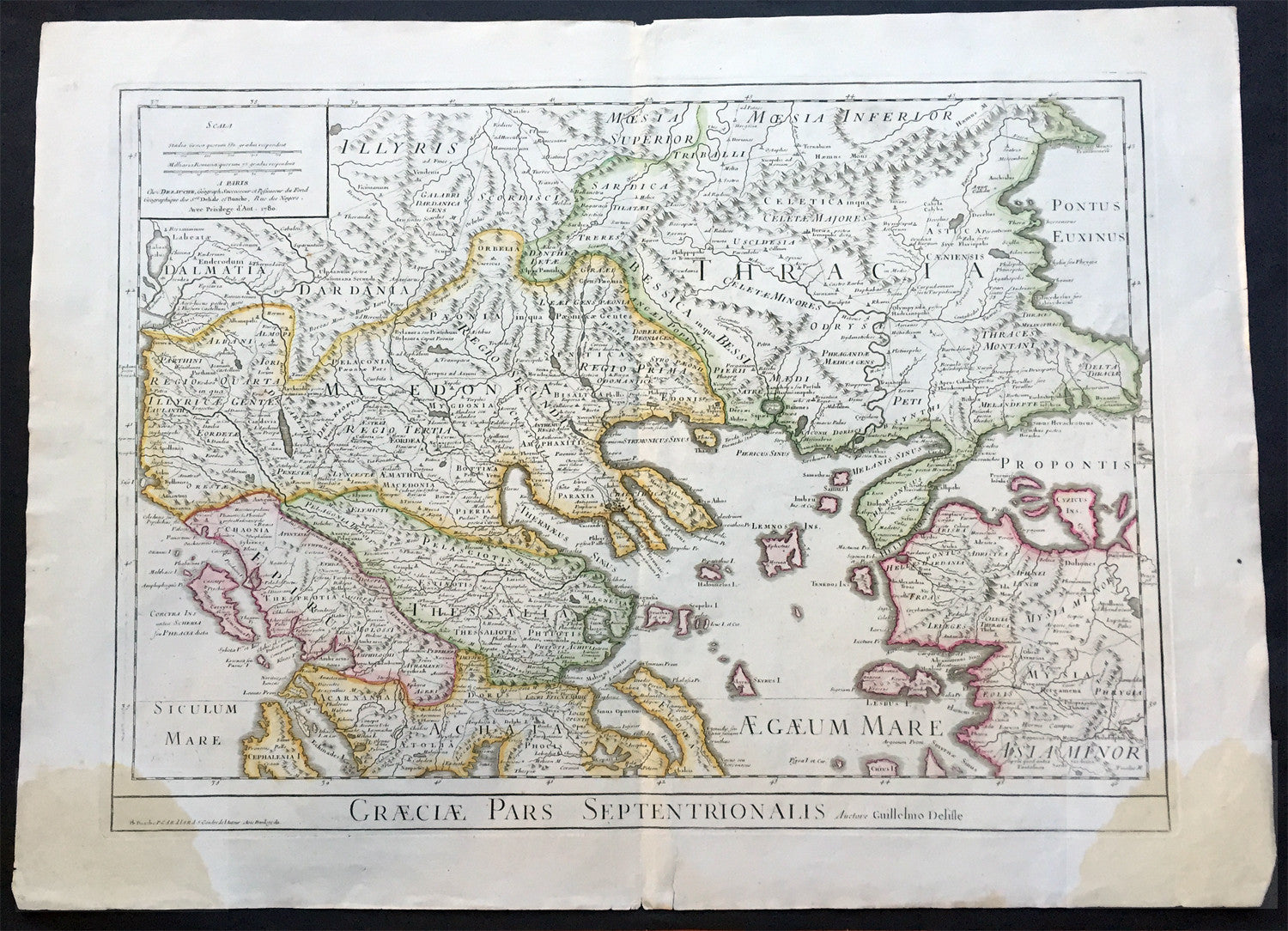 1780 large delisle antique map of nothern greece macedonia 1780 large delisle antique map of nothern greece macedonia thracia turkey gumiabroncs Gallery