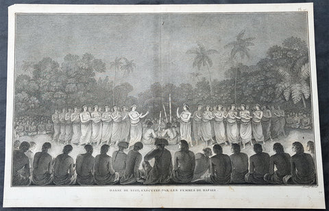 1785 Cook, Benard Antique Print Capt Cook & Female Dancers in Tonga, Sth Pacific