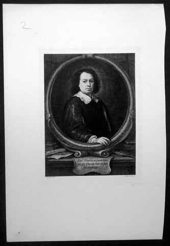 1870 Charles Murray after Bartolome Esteban Murillo Antique Print - Murillo Self Portrait