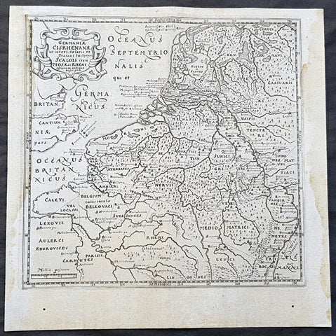 1661 Cluver Antique Map of Netherlands, Belgium & Germany