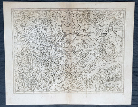 1628 Gerard Mercator & Henricus Hondius Antique Map Canton of Aargau Switzerland