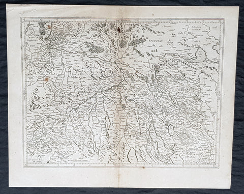 1628 Gerard Mercator & Henricus Hondius Antique Map Canton of Zurich Switzerland