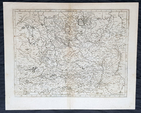 1628 Gerard Mercator & Henricus Hondius Antique Map of Westphalia, Germany