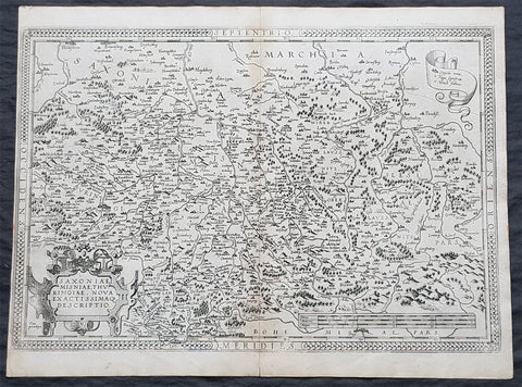 1575 Abraham Ortelius Antique Map Obersachsen, Meissen and Thuringen, Germany