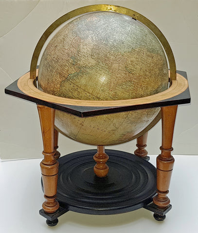 1880s Alphonse & Jules Lebegue 21in x 12in Diameter Antique Desk Globe