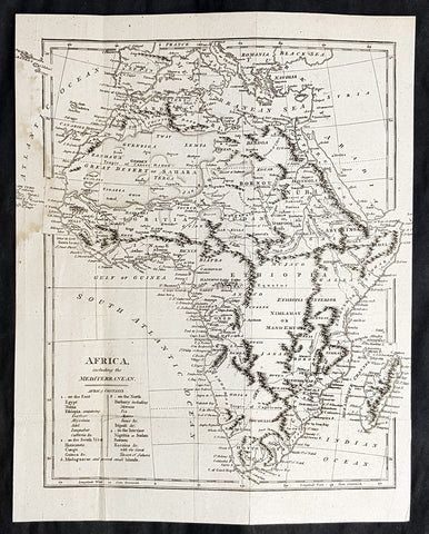1798 Arron Arrowsmith Antique Map of Africa