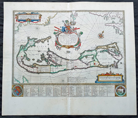 1662 Joan Blaeu Antique Map of the Island of Bermuda  - Mappa Aestivarum Insularum