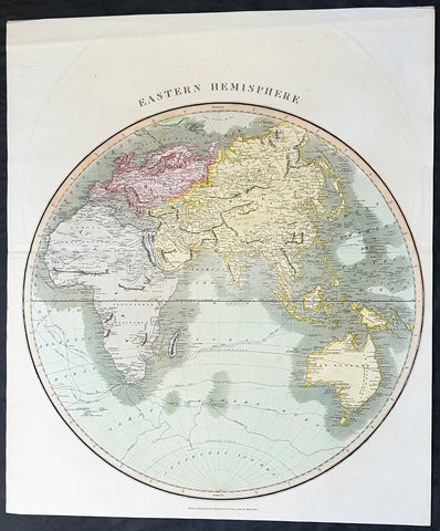 1815 Thomson Large Antique Map of The Eastern Hemisphere, Australia
