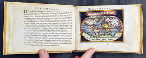 1595 Abraham Ortelius Antique Epitome Atlas with 106 Maps - Rare, Unique & Beautiful