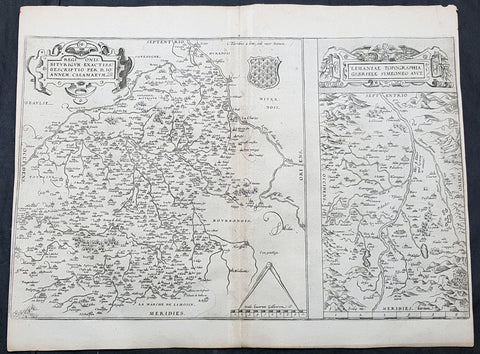 1575 Abraham Ortelius Antique Maps of Loire Valley, River & Alliers River France