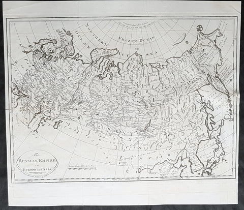 1795 Matthew Carey Antique Map of the Russian Empire in Europe & Asia