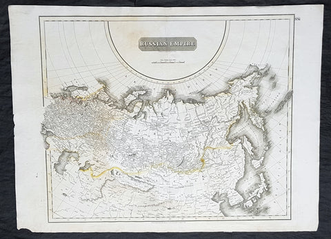 1814 John Thomson Large Antique Map of The Russian Empire