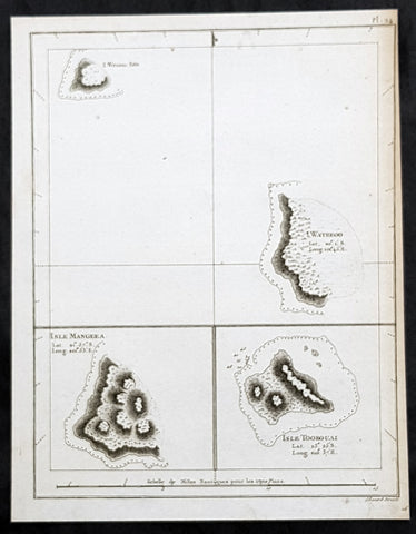 Have one to sell? Sell now 1785 Capt. Cook Antique Map 3 x Cook Islands & 1 x Society Island - Cook in 1777