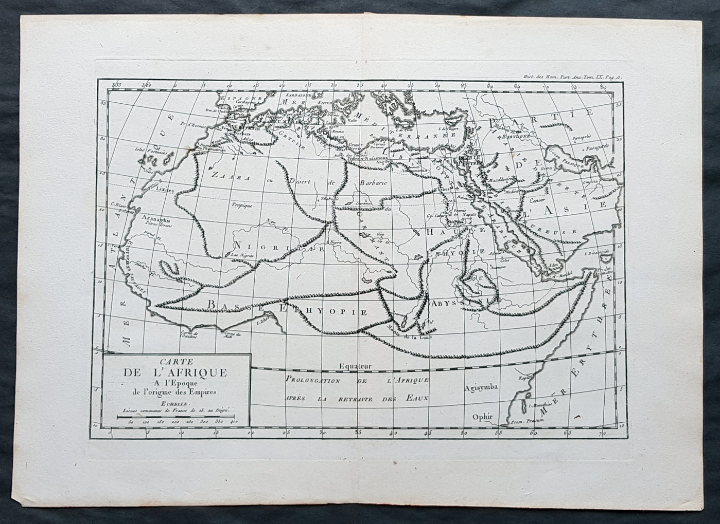 Carte Afrique Tl.1769 J B D Anville Original Antique Map Of Africa As Known To The Ancients