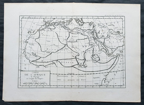1769 J B D Anville Original Antique Map of Africa as known to the Ancients