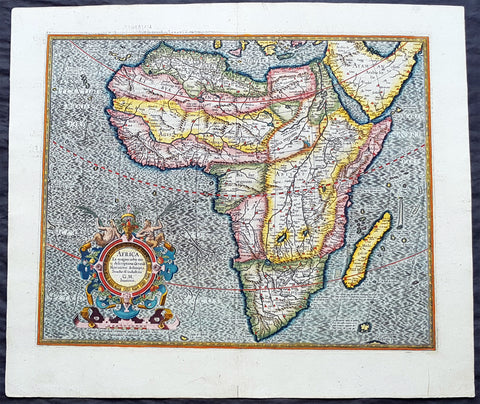 1613 Gerard Mercator Large Antique Map of Africa - Africa Ex Magna