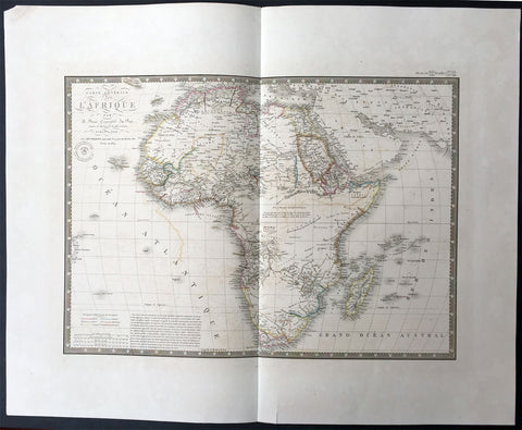1834 Brue Large Antique Map of Africa